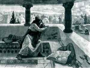 """David Sees Bathsheba Bathing""by J. James Tissot"