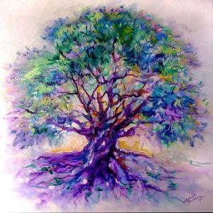 Tree of Life - Purple Rain, by Marcia Baldwin