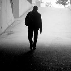 simple man walking